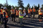 Participants at Canadian Malartic mine site